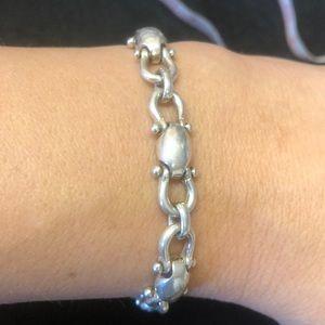 "Jewelry - Silver bracelet 8.5"" solid links"